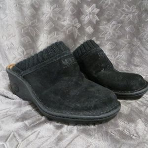 UGG Black Fur Lined Clogs